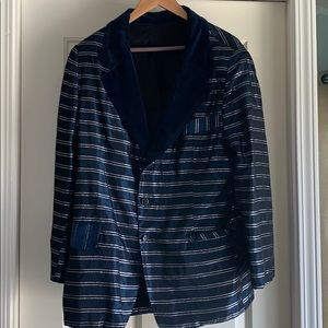 Other - Vintage Navy and Metallic blazer